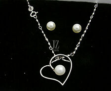 Sterling Silver One Freshwater Pearl Pendant with unique Sterling Silver Chain.