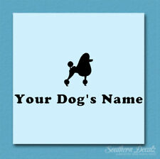 Custom Poodle Dog Name Decal Sticker - 25 Colors - 6 Fonts