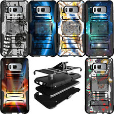 Dual Layer Clip Stand Heavy Duty Protective Case for Samsung Phone Models