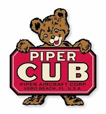Piper Cub Vintage Piper J-3 Decal / Sticker Die cut