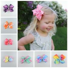 1PC Lovely Girl Bow Grosgrain Hairpin large Ribbon Butterfly Hair Clip Children