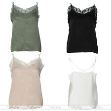 Womens Ladies Sexy Floral Lace Spaghetti Strap V Neck Tank Vest Top Blouse Shirt