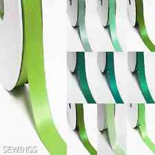 """double faced satin ribbon 2-1/4"""" /  57mm. wedding 5 yards, lime to green"""