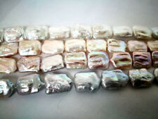 17-23mm genuied cultured freshwater pearl loose beads necklace square