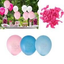 100pcs Baby Shower Bowknot Latex Balloons Christening Party Decoration 12 inch