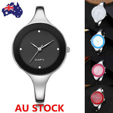 Woman Quartz Bracelet Wrist Watch Stainless Steel Band Bangle Buckle Watches