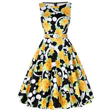 Print Floral 50s Vintage Dresses Women Summer Retro Dress Womens Casual Clothing