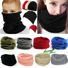 Mens Women Winter Cowl Neck Warmer Scarf Snood Wrap Bandanna Headwear Beanie Hat