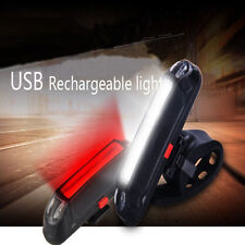 US 6 Modes USB Rechargeable Bright Bike LED Front Rear Tail Lamp Head Light