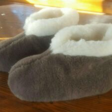 New Women 100% Sheep Wool Home Shoes Warm House Indoor Slippers Lot 146 US 9 10