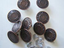 JEANS/DENIM BUTTONS 14/17/19mm easy fit Various colours packs of 10-free p/p