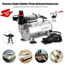 Airbrush & Compressor Kit Dual Action Spray Gun Air Brush Set Tattoo Body Decor