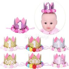 Cute Kids Baby Girl Toddler Flower Crown Hair Band Headwear Headband Accessories