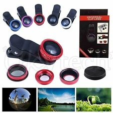 Wide Angle 180° + Fish Eye + Macro Clip Camera Lens Kit For iPhone7 Mobile Phone