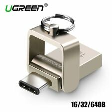 Ugreen USB Flash Drive 32GB OTG Metal USB 3.0 Pen Drive Key 64GB Type C High Spe