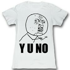 Y U No Guy Meme Trending #YUNo Y U No Stick Figure Guy Juniors T-Shirt