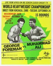Rumble In The Jungle George Foreman v Muhammad Ali Boxing Art Print/Poster