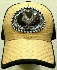 FOWL ROOSTER CHICKEN COCK FARM GAME AMERICAN MEXICO MEXICAN TRUCKER MESH CAP HAT