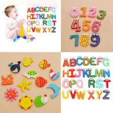Wooden Cartoon Alphabet and Number Fridge Magnet Educational Toys for Baby Kids