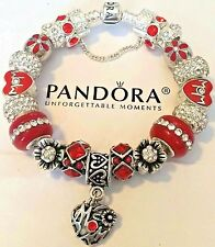 New AUTHENTIC PANDORA Mom CHARM BRACELET 925 Sterling Silver European Beads #M4