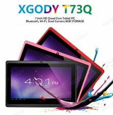 XGODY 7'' Quad Core 8GB Android Tablet Dual Camera WiFi Kids Children Child Gift