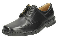 MENS CLARKS LEATHER LACE UP EXTRA WIDE LACE UP FORMAL SHOES SALUTE FREE FAST