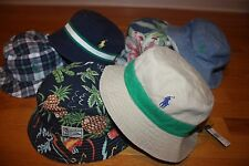 New with Tags Polo Ralph Lauren Reversible Bucket Hat Golf Fishing Beach