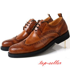 3 Colors US Size 5-9.5 Mens Fashion Leather Formal Dress Oxfords Wingtip Shoes