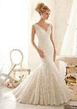 New Lace Mermaid Wedding Dress Backless Bridal Gowns Custom Made Robe de Mariage