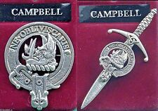 Campbell Scottish Clan Crest Pewter Badge or Kilt Pin