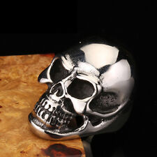 Silver MENS Huge Heavy Skull 316L Stainless Steel Biker Ring US Size 7-13 Gifts