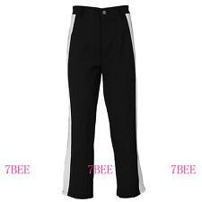 Women Wide Left Pant Black Hippie Boho Bottom Flare Stretch Pant Soft Yoga S M L