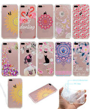 Fashion Pattern Soft TPU Slim Bumper +Hard Back Case Cover For iPhone 7/7 Plus/6