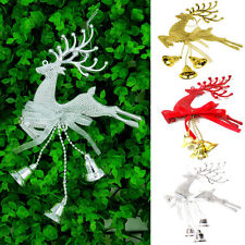 Christmas Tree Ornament Chital Deer Hanging Xmas Baubles Home Party Decoration