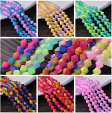 Bulk Wholesale 6/8mm Lacquer Bicone Faceted Crystal Glass Loose Spacer Beads Lot