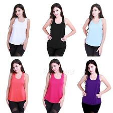 Women Fitness Sport Tank Top Seamless Blouse Stretch Vest GYM Yoga Workout Shirt