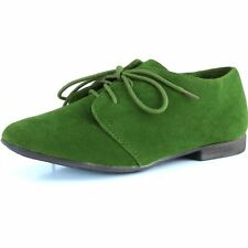Women's Classic Lace up Flat Ballet Loafers Oxford Sneaker Shoes