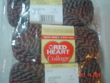 Red Heart Collage Worsted Weight Yarn  3 Pack   Wood Trail