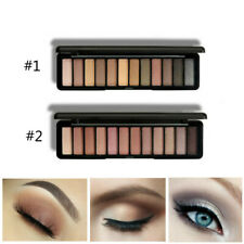 12 Color Earth Tone Eyeshadow Palette Matte Glitter Eye Shadow Makeup Kit