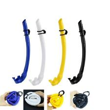 Silicone Wet Snorkel Underwater Scuba Diving Snorkeling Swimming Breath Air Tube