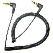 For VERIZON PHONES - BLACK COILED AUX CABLE CAR STEREO WIRE AUDIO SPEAKER CORD