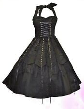 BNWT Steampunk Victorian Gothic Black Corset Lace Vintage Whitby 8 10 12 14 16