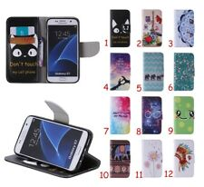 Magnetic Wallet Flip PU Leather+TPU Stand Card Colorful Case Cover For Samsung
