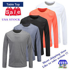 Hot Sale Fashion Mens Slim Fit Casual Shirt T-Shirt Long Sleeve Men T-Shirts Top