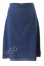 Ex Fat Face Navy blue Border Anglais A line Skirt Lined size 8