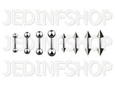 Straight Barbell Tongue Nipple Bar - 1.6mm (14g) - 10mm - Stainless Steel