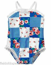 NWT Gymboree SWIM SHOP GAZEBO PARTY Patchwork Swimsuit 6 12 18 24 M Baby Girls