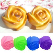 5pcs Silicone Rose Muffin Cup Cake Baking Mold Chocolate Jelly Maker Mold Mould