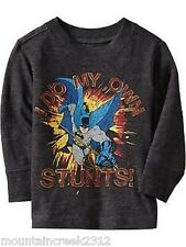 New OLD NAVY Boy's Shirt Size 12 18 months DC Comics BATMAN Tee Top Gray