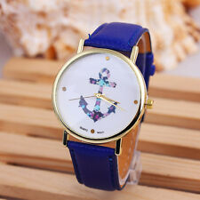 New Fashion Men Women Watch Luxury Unisex Leather Band Quartz Wrist Watches